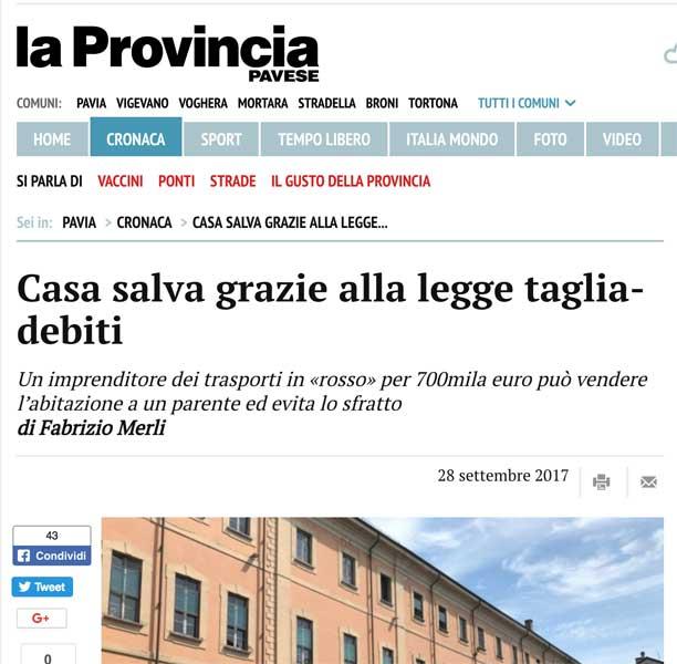 Tribunale Pavia: STORIA VERA DI UN AUTOTRASPORTATORE DI PAVIA